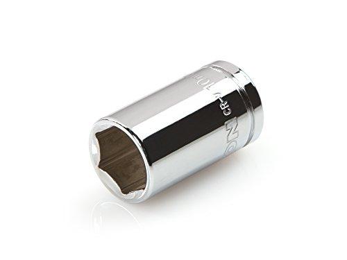 TEKTON 14115 1/4-Inch Drive by 10mm Shallow Socket, Cr-V, 6-