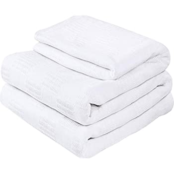 Utopia Bedding Premium Cotton Blanket Twin/Twin XL White - Soft Breathable Thermal Blanket - Ideal for Layering Any Bed
