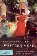 Norton Anthol.Of Western Music,V.1