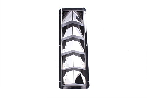 Boat Stainless Steel Louver Vent Boat Marine 5 Slots Vent 12-7/8'' x 4-3/8'' by Prairie Metal