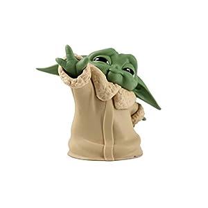 FMBK666 5pcs Star Wars The Child Animatronic Edition Mandalorian Baby Yoda Action Figure Toys Kids Toys Xmas Gifts…