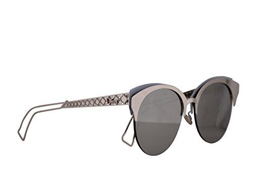 Christian Dior DioramaClub Sunglasses Iron w/Grey Silver Mirror Lens 55mm 2BW0T DioramaClubs Diorama Club DioramaClub/s