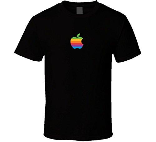 Apple Retro Logo Rainbow T Shirt