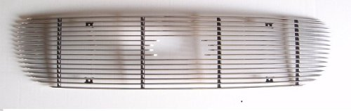 MaxMate Fits 97-98 Ford Expedition/F-150/Light F250 (Except Lariat, Original Shell has to be Honeycomb) Bolton Upper 1PC Horizontal Billet Polished Aluminum Grille Grill Insert