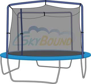 Sports Oh 10-14 Ft. (Frame Size) Trampoline Net for UNIVERSAL Universal Enclosure (Fits Universal) (Net and Attachments Only) Frame Size: 13' 10' Universal Foam