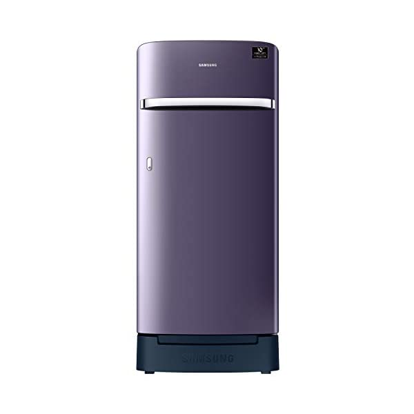 Samsung 198 L 4 Star Inverter Direct-Cool Single Door Refrigerator (RR21A2H2XUT/HL, Pebble Blue, Base Stand with Drawer) 2021 July Direct-cool refrigerator : Economical and Cooling without fluctuation Capacity 198 liters: Suitable for families with 2 to 3 members and bachelors Energy rating 4 Star : high efficiency model