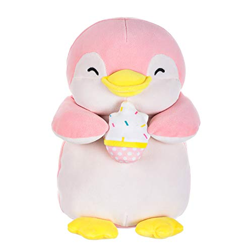 MINISO Cute Penguin Plush Toy Lovely Plushies Stuffed Animal Doll Gift Ice Cream Character, Christmas Pillow for Boy Girl 13 Inches