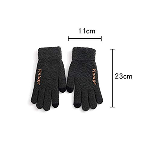 AINIYF Tech Touch Gloves   Men's Touch Screen Wool Gloves Winter Warm Locomotive Plus Velvet Thick Windproof Outdoor Cycling Ride (Color : Gray) by AINIYF (Image #2)