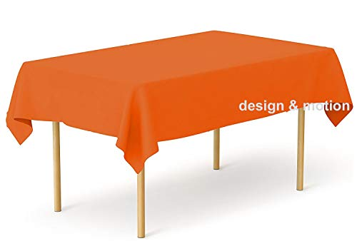 Heavy Duty Plastic Table Covers Tablecloth (Reusable) (Rectangle 54