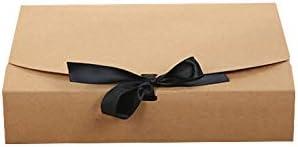 Skyoo Caja de papel rectangular con cinta, caja de regalo grande ...