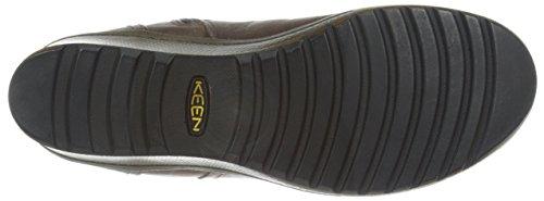 Keen - Zapatos de cordones de Piel para mujer Marrón marrón oscuro Marrón - marrón oscuro