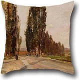 the-oil-painting-emil-jakob-schindler-boulevard-of-poplars-near-plankenberg-pillowcase-of-20-x-20-in