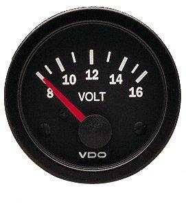 VDO 332103 Vision Style Voltmeter Gauge 2 1/16 Diameter by VDO