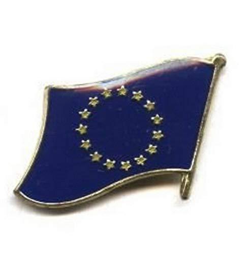 Mikash European Union Country Flag Bike Motorcycle Hat Cap Lapel Pin | Model FLG - 3283