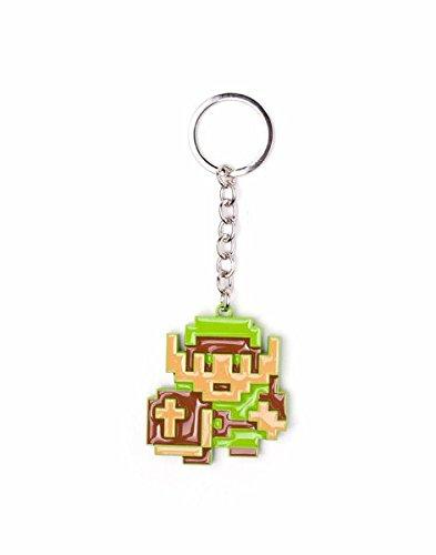 Official Nintendo The Legend of Zelda 8-Bit Link Character Metal Keyring
