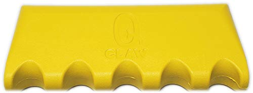 (Q-Claw QCLAW Portable Pool/Billiards Cue Stick Holder/Rack - 5 Place - Yellow)