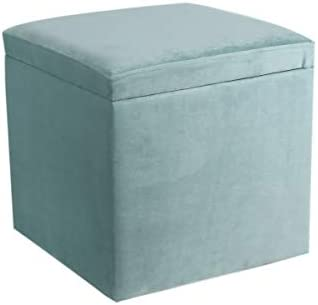 Peachy Eshow Ottoman And Storage Ottomans Storage Foot Stools Bench Pouf Ottoman Cube Storage Stool Decorative Seating Blue344 Machost Co Dining Chair Design Ideas Machostcouk