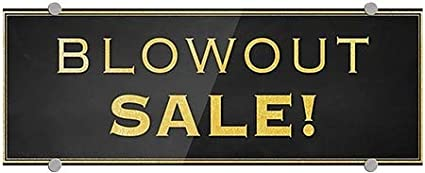 CGSignLab Blowout Sale 8x3 Classic Gold Premium Acrylic Sign 5-Pack