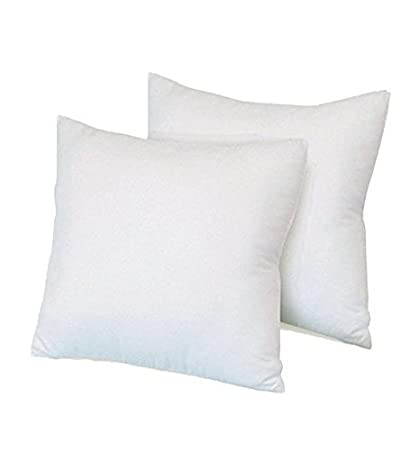 Casa Copenhagen Basics Wispy 2 pack, 16 x 16 inches, Throw Pillow Cushion Insert Casa Basics FBA_TIT_CWY04004010003_WHE
