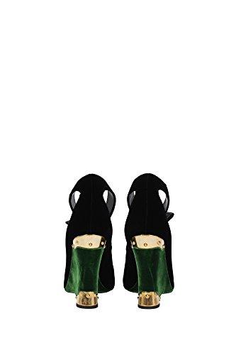 Oro Velvet Negro Negro y Verde Cuñas Mujer 40EU 1I184HNEROALLORO Prada SwqP7H