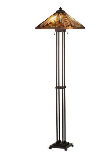 2-Light NUEVO Mission Floor Lamp - Beige Mission Desk Lamp