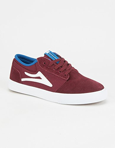 Lakai - Zapatillas de skateboarding para niño Rojo marrón granate