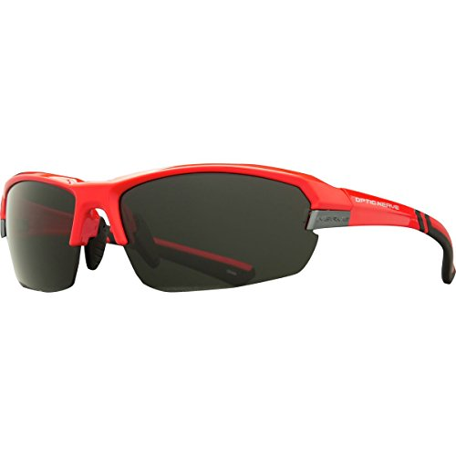 Optic Nerve Vahstro Sunglasses, Shiny Red with Black Tips, 4 Sets: Polarized Smoke/Copper/Orange with Blue Flash/Clear - Sunglasses Black Tip