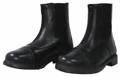 Tuffrider Perfect Front Zip Paddock Boot Ladies Black 11 LD