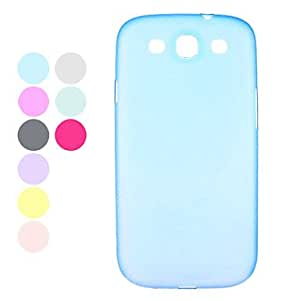 YXF Durable Plastic Samsung Mobile Phone Back Covers for Galaxy I9300(9 Colors) , Blue