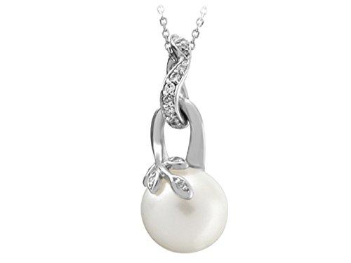 Collier de Perles et Diamants -Femme- or Blanc 204P0021