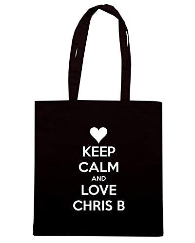 AND CALM TKC1589 LOVE KEEP Nera Shopper Borsa CHRIS B wIpWqzXfc