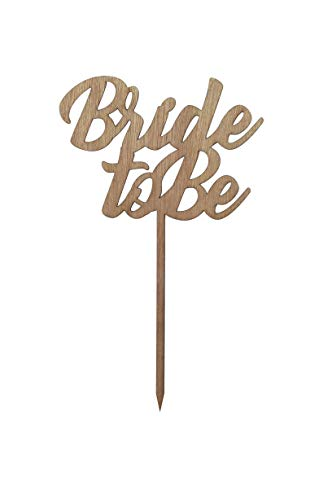 Price comparison product image LaserStudio502 Bride to Be Cake Topper - Laser Cut Bachelorette Party Decoration [Wood Color]