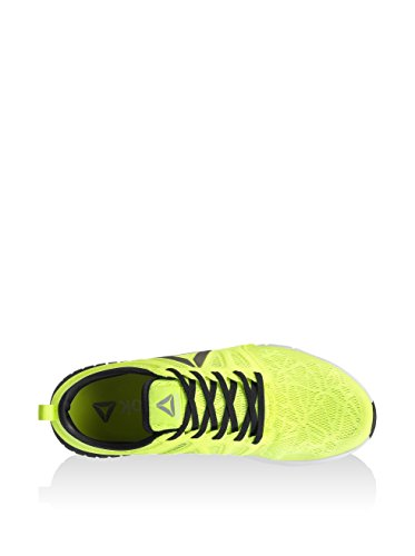 Reebok Zprint 3d We, Zapatos para Correr para Hombre Amarillo (Solar Yelow / Black / White / Pewter)