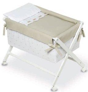 Bimbi Class–Baby, 68x 90x 71cm, Farbe Weiß und Leinen