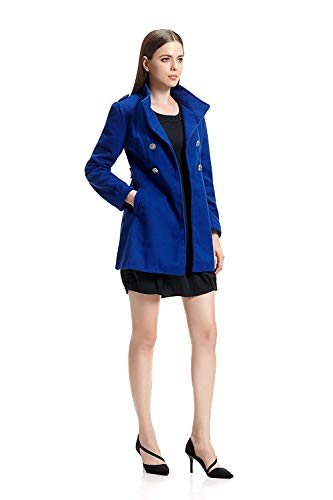 Double Boutonnage Trench Revers Pink Hiver Manteaux Unicolore Longues Manteau Patchwork Femme Slim Jacke Manches Coupe breal a Longues Fit PqwnFYx