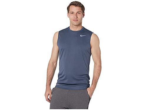 - Nike Men's Solid Sleeveless Hydroguard Monsoon Blue Large