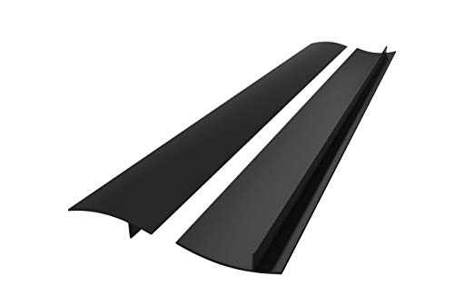 25 inches Silicone Stove Counter Gap Cover (Set of 2) by Kettio, Seals Out Spills Between Counters, Appliances, Dryers, Stoves, Washing Machines and More - Matte - Side Countertop Trim