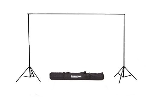 Fovitec - 1x 10'x12' Photography & Video Backdrop Supports Stand - [Cast Iron][Collapsible][Interlocking][Lightweight][Carry Bag Included]