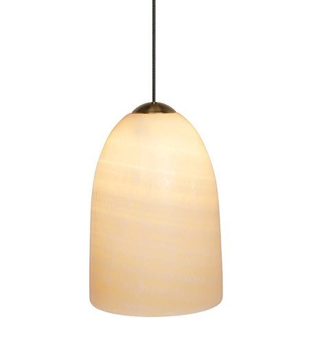 LBL Lighting HS177ONBZ1B50MPT Dome Low Voltage Pendant, Bronze Finish with Genuine Onyx Shade by LBL ()