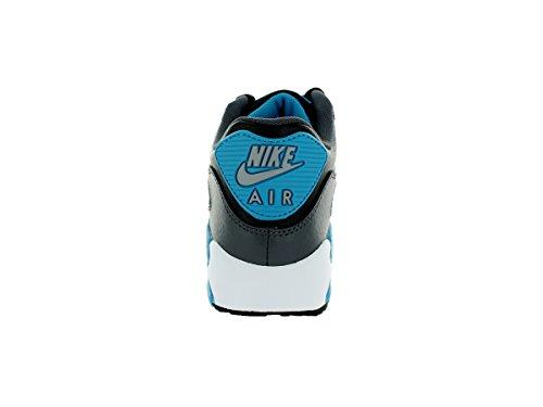 Nike Air Max 90 Schuhe 705499 Schwarz 001 EDEL Sneaker Blau-Grau-Schwarz
