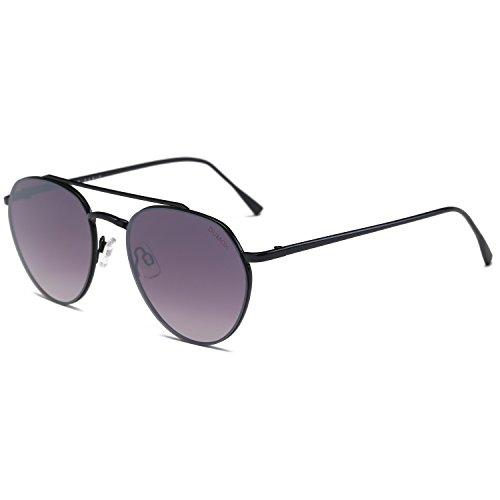 Glasses Black Frame Grey Lens - Dumok Fashion Round Mirrored Lens Unisex Sunglasses UV400 Protection Glasses With Black Frame/Grey Lens