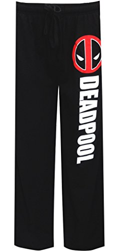 Deadpool Marvel Sleep Lounge Sleep Pants (Large), Black