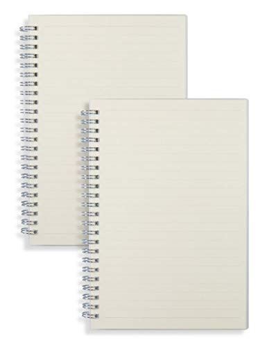 Miliko Transparent Hardcover A5 Ruled Wirebound/Spiral Notebook/Journal Set-2 Per Pack, 8.27x5.67(Ruled)