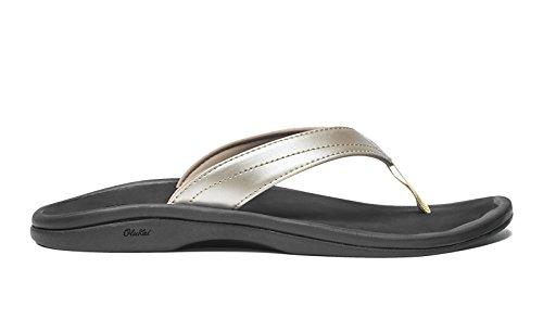 Women's Olukai 'Ohana' Sandal, Size 10 M - Metallic