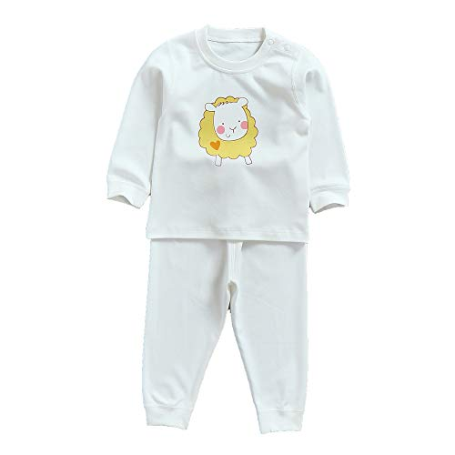 MuYwa Toddler Pajamas Boys Girls Unisex 2 Piece Pjs Set Snug Fit 100% Cotton Kids Sleepwear SW