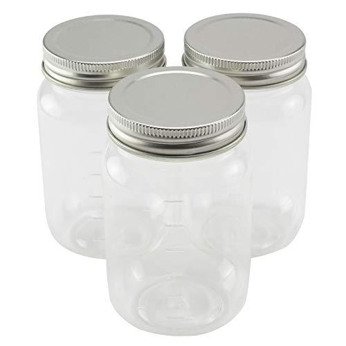 3ct. Plastic Mason Jars by Craft Smart, 16oz.
