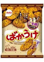 Befco Rice Cracker Bakauke Sesame & Soy Source Taste (16pcs)
