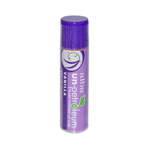 Spf 18 Vanilla Lip Balm (Alba Un-Petroleum Lip Balm with SPF-18 Vanilla - 0.15 oz - Case of 24)