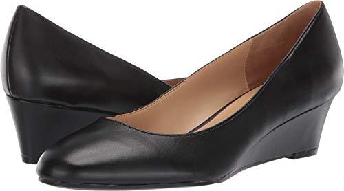 Naturalizer Women's Pilar Pump, Black Leather, 8.5 M US