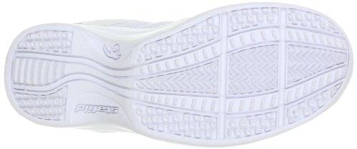 Chung Shi AuBioRiG Balance Step Sport weiß mit orangenen Schuhbändern - Zapatos para caminar de material sintético mujer blanco - Weiß (weiß/orange)